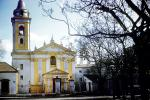 Bell Tower, Church, Cathedral, Christian, Religion, Religious, Building, exterior, outside, outdoors, Buenos Aires, CBAV01P07_14