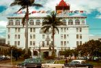 cars, Palm Trees, Hotel building, San Jose, 1950s, CBCV01P02_01.1509