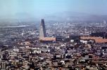 A-frame, unique building, Banobras Tower, mountains, metropolitan, skyline, cityscape, triangle, office building, landmark, Tlateloloco, November 1966, 1960s, CBLV01P04_06