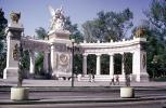 """Hemicycle"", or half-circle, Monument to Benito Juarez, Landmark, Angels, Urn, Plaza, Steps, Statue, building, April 1974, 1970s, CBLV01P12_02"