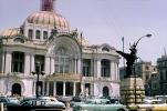 Palacio de Bellas Artes, Palace of Fine Arts, Museum, cars, automobiles, vehicles, March 1967, 1960s, CBLV01P13_07