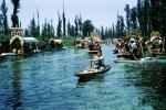 Xochimilco Park, floating islands, Chinapas, March 1967, 1960's, CBLV01P14_07