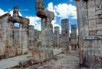 Templo de los Guerreros, Temple of the Warriors, Chichen Itza, CBMV02P01_06.1511