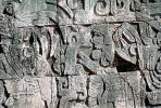 Skull, Carving, Stone, bar-Relief, Figure, Chichen Itza