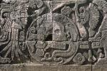 Skull, Carving, Stone, bar-Relief, Figure, Chichen Itza, CBMV02P01_14.1698