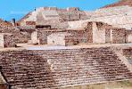 Steps, stairs, buildings, Monte Alban, Ruins, CBMV03P12_19.0638