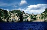 Cliffs, Ocean, buildings, bay, Pacific Ocean, coastal, coast, shoreline, seaside, coastline, Acapulco, CBMV06P01_09