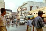 Casa Claveria, downtown, cars, buildings, city, shops, stores, hat, Studebaker, Cartagena, 1950s, CBOV01P02_07