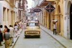 Casa Tovar, downtown, cars, buildings, city, shops, store signs, Ford Pickup Truck, Cartagena, 1950s, CBOV01P02_08B