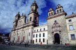 Archbishopric Cathedral of Bogota next to Sacred Chapel and Archiepiscopal Palace, Bells, Building, entrance, Bogota, city, CBOV01P03_06