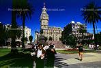 The Salvo Palace, Palacio Salvo, Plaza independencia, Independence Plaza, Building, famous landmark, Montevideo, CBUV01P03_04