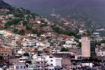 Homes, hillside, buildings, crane, La Guaira, Maiquetia, Venezuela
