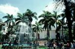 National Capitol, Water Fountain, aquatics, Palm Trees, government building, Caracas, Venezuela, CBVV01P02_18