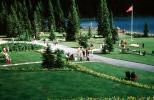 Lake Louise, Mountains, Forest, Lawn, Path, Flowers, Banff, CCAV01P06_15