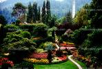 Garden, flowers, path, trees, The Butchart Gardens, Vancouver, CCBV01P01_12.1514