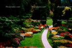 Garden, flowers, path, trees, The Butchart Gardens, Vancouver, CCBV01P01_13.1514