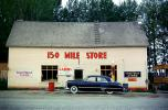 150 Mile Store, motel, Oldsmobile Car, two-door sedan, Roadhouse, building, landmark, 1950's