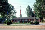 Motel, building, flags, Mercury Comet, 1960s, CCEV01P01_14