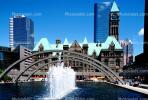 Arch over Water Fountain, aquatics, Old City Hall, buildings, skyline, cityscape, highrise, CCOV02P04_03
