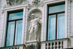 Male, Statue, Window, Parliament Building, detail, Vienna