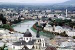 buildings, churches, houses, cityscape, Salzach River, Salzburg, CEAV01P15_12