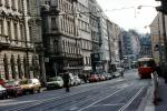 Cars, Automobile, Vehicle, Trolley, Street, Rail, Buildings, Prague, CECV01P04_14