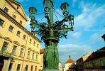 Art-nouveau style Candelabra, Hradcany Square, in Prague