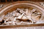 Knight, sword, dragon slayer, bar-Relief, Prague