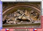 arch, slayer, sword, swordsman, dragon, bar-Relief, Prague