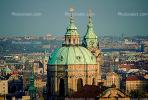 Skyline, buildings, Prague, Church of Saint Nicholas, building, dome