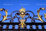 Ornate Gate, Wrought Iron, Hradcany Castle, Prague, CECV01P10_03.0149