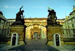 Entrance, Mathais Gate (back), Soldier, Guard, Guardhouse, Hradcany, Castle Prague