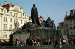 Jan Hus Memorial, Old Town Square, Prague, CECV01P14_06