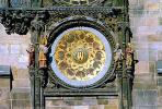 Astronomical Clock, Old Town Square, Prague, Round, Circular, Circle, outdoor clock, outside, exterior, building, CECV02P01_13.0149