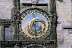 Astronomical Clock, Old Town Square, Prague, Round, Circular, Circle, outdoor clock, outside, exterior, building, CECV02P01_14.0149