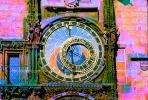 Astronomical Clock, Old Town Square, Prague, Round, Circular, Circle, outdoor clock, outside, exterior, building, CECV02P01_14B.0149