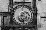 Astronomical Clock, Old Town Square, Prague, Round, Circular, Circle, outdoor clock, outside, exterior, building, CECV02P01_14BW