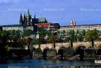 Charles Bridge, Vltava River, Prague Castle, Shoreline, CECV02P04_02.1516