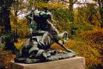 Horse statue, statuary, fall colors, art, artform, Copenhagen, autumn