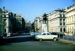 Cars, automobile, vehicles, Statue, Buildings, 1950s