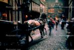 Horse Carriage, York, England, Edinburgh, Scotland, 1950's