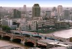 Bridge, River Thames, London, Cityscape, skyline, buildings, skyscraper, Downtown, Metropolitan, Metro, Outdoors, Outside, Exterior, CEEV02P12_10.1518
