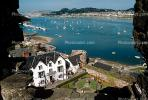 Home, House, Bay, Harbor, boats, castle, North Wales
