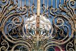Ornate Ironwork, gate, curves, curvy, gold leaf, spiral, CEFV01P01_06