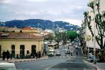 road, cars, mountain, buildings, automobile, vehicles, Cannes, April 1967, 1960s