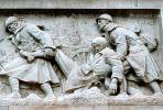 military, soldiers, wounded, bar-relief, sculpture, statue, frieze, CEFV05P15_07.2587