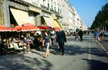 Sidewalk Cafe, Woman, Walking, CEFV08P02_08