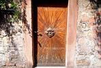 Sun, Face, Wooden, Door, Doorway, Entrance, Entry Way, Entryway, Weinheim, CEGV01P01_08.0149