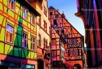 Colorful Homes, Houses, Weinheim, psyscape, Paintography, CEGV01P01_16.2587