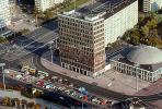 Haus des Lehrers, Berliner Congress Center, Office building, dome roof, street, buses, Otto-Braun Street, Munzstasse, Alexanderplatz, Berlin, CEGV02P06_12.2588